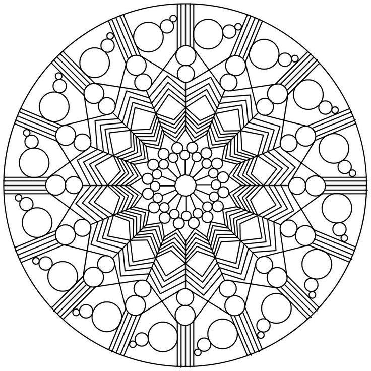 sacred geometry coloring pages - photo #5