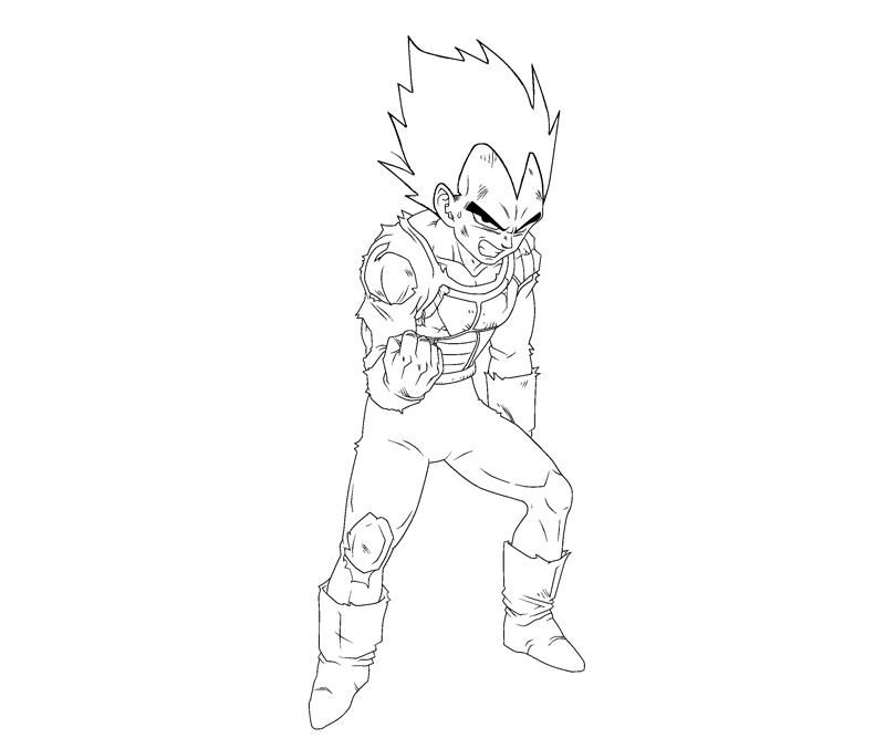 vegeta coloring page - vegeta coloring pages coloring home