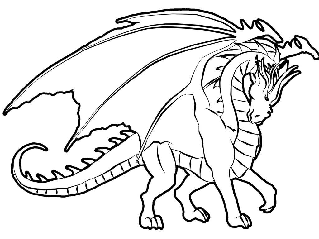 Realistic Dragon Coloring Pages - AZ Coloring Pages