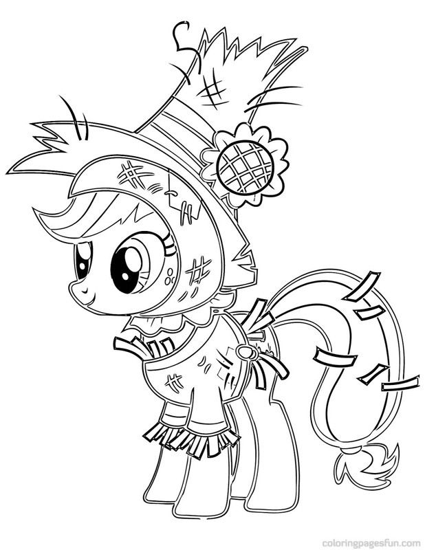 My Little Pony Applejack Coloring Pages | Cartoon Coloring Pages