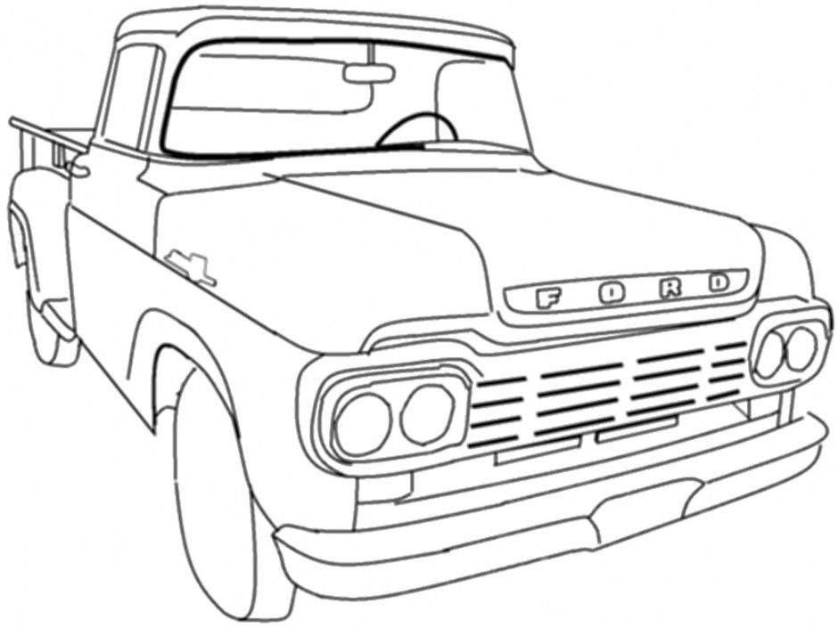 free ford truck coloring pages - photo#17