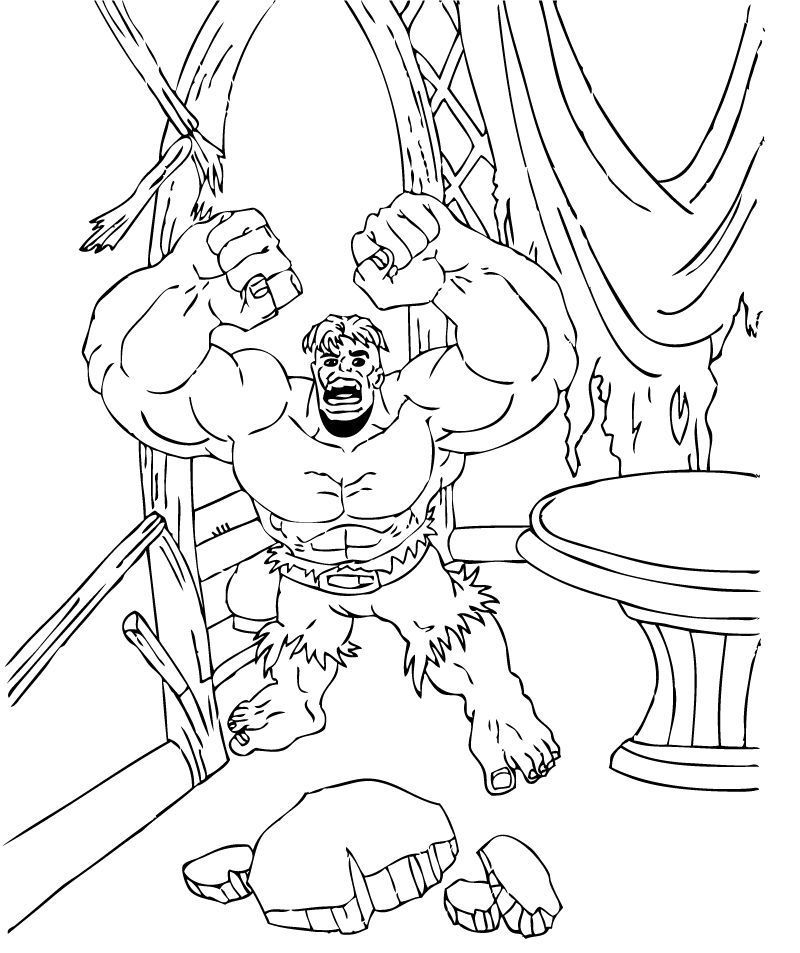Free Printable Hulk Coloring Pages For Kids