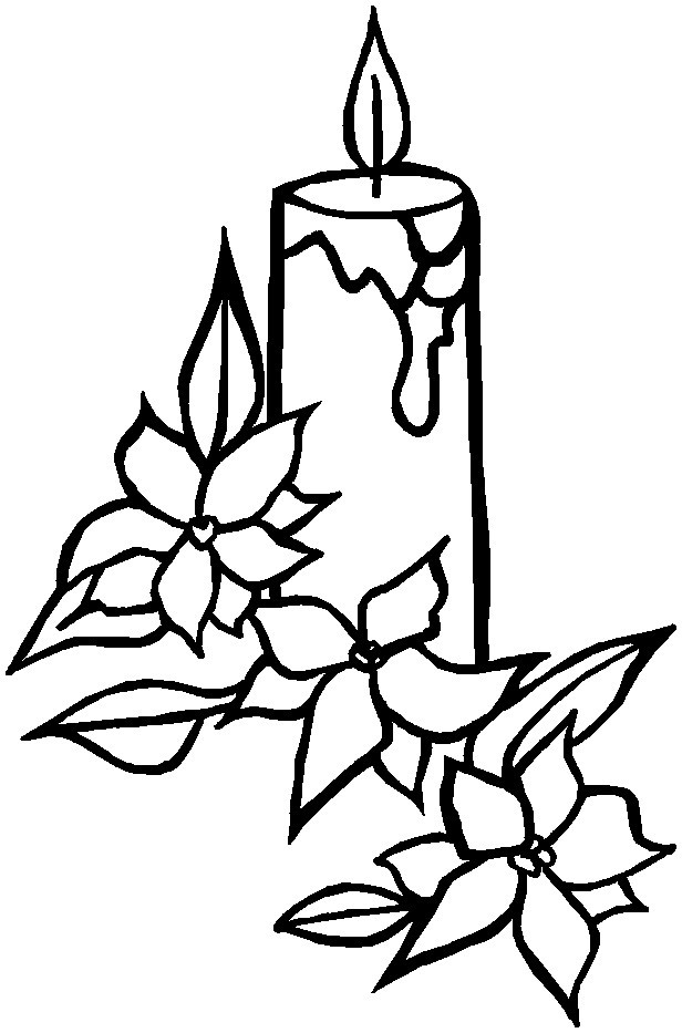 Christmas candle images az coloring pages for Christmas candle coloring page