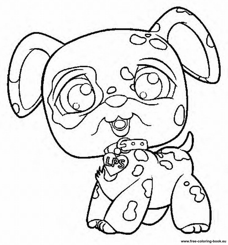 Coloring Pages Little Pet Shop Online Printable Tattoo