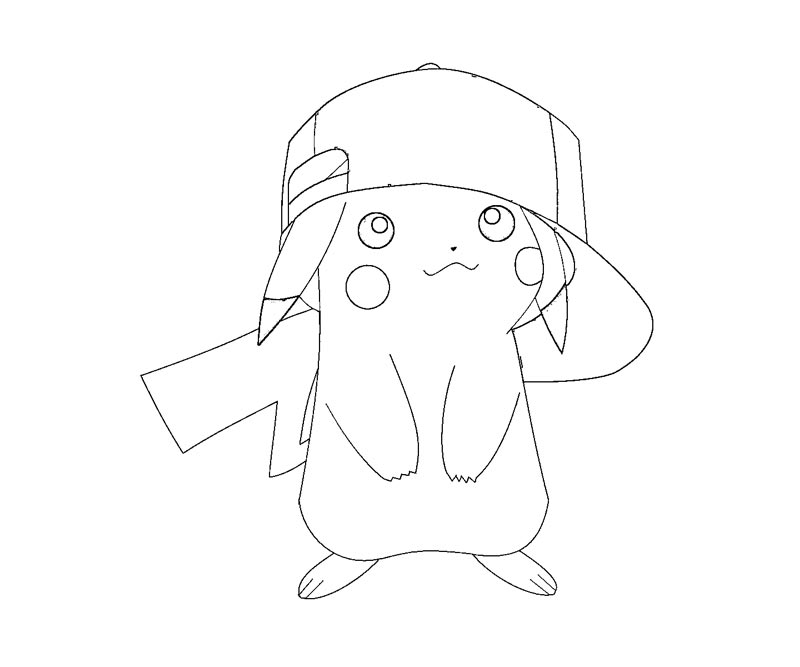 3 Pikachu Coloring Page - Coloring Home