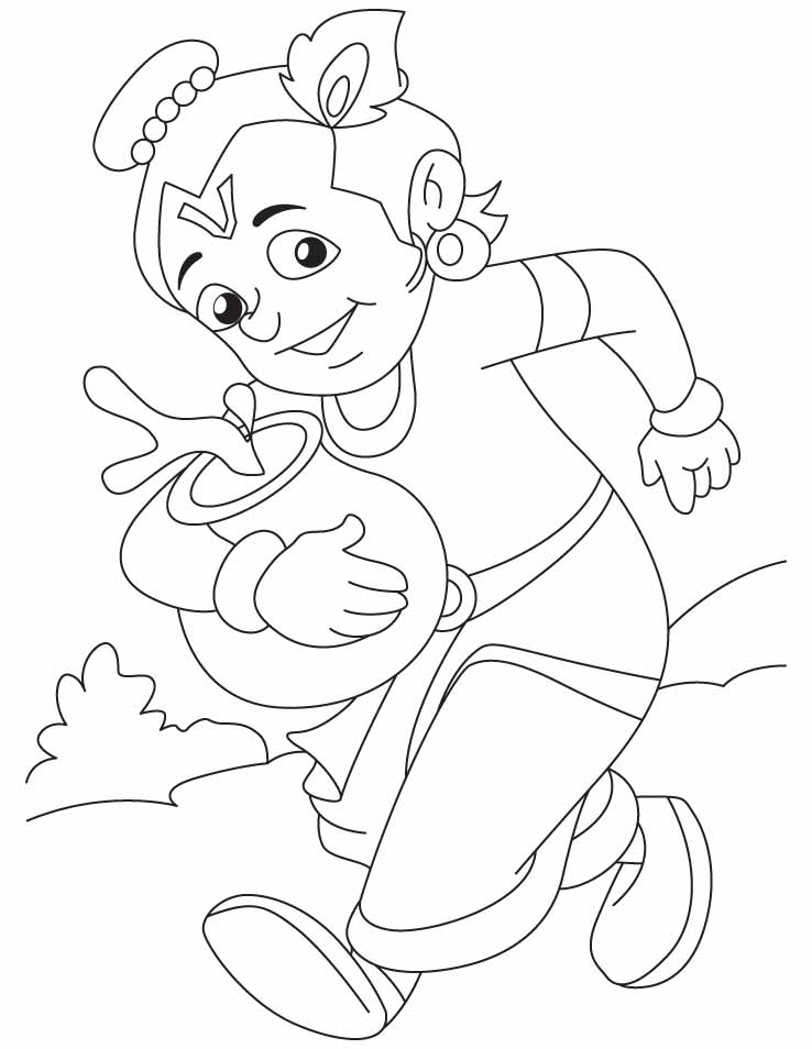 Krishna The Sprinter Coloring Pages