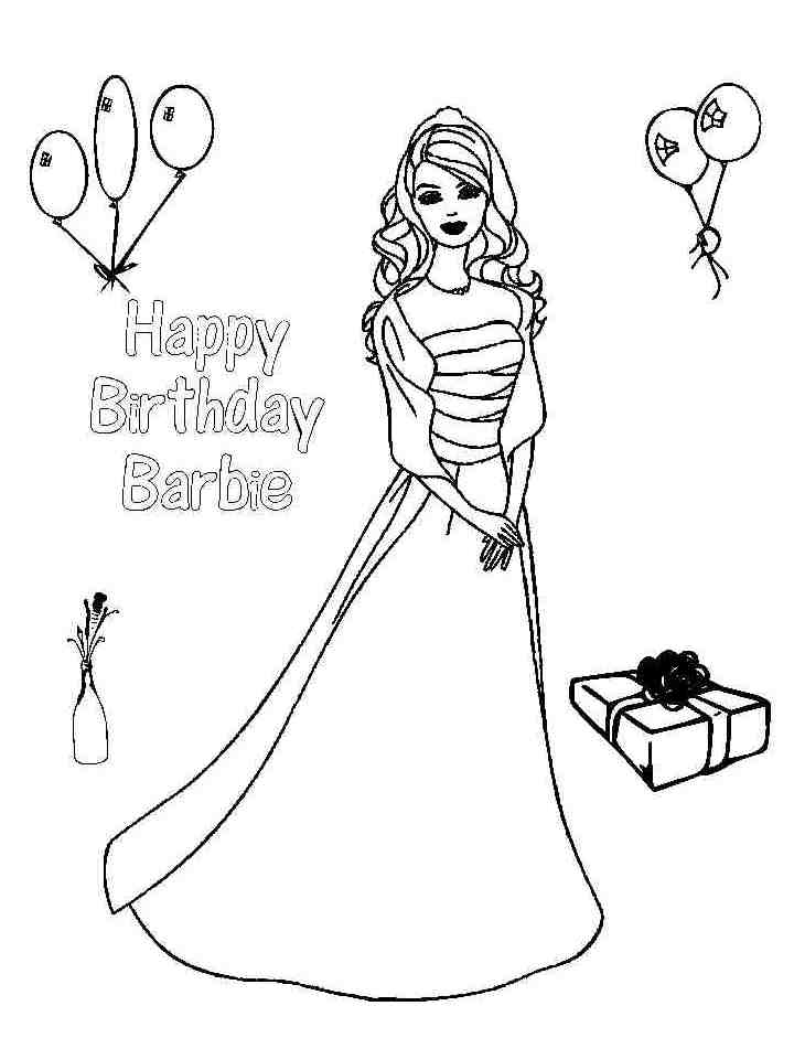 Princess Birthday Coloring Pages Coloring Home Happy Birthday Princess Coloring Pages Printable