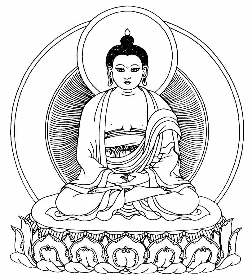 Buddhist Coloring Pages Coloring Home Buddhist Coloring Pages