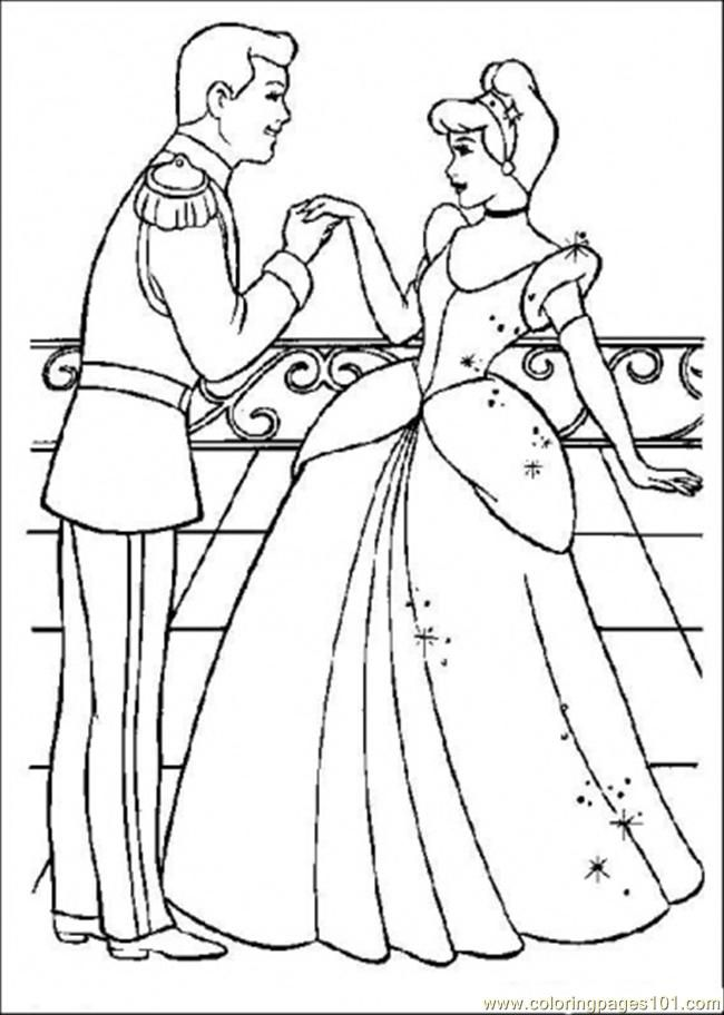 Coloring Pages The Prince Likes Cinderella (Cartoons > Cinderella