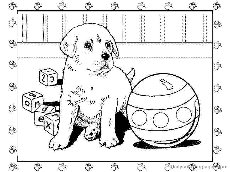 Puppy Coloring Pages To Print Coloring Home