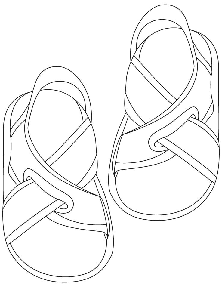 Flip Flops Coloring Page Coloring
