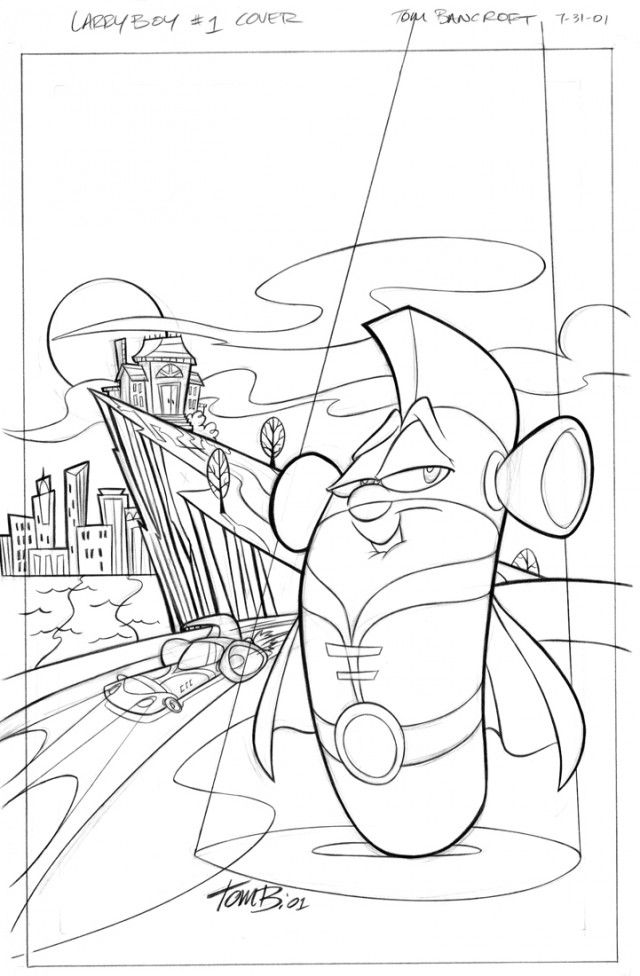 veggie tales coloring pages larryboy - photo#4