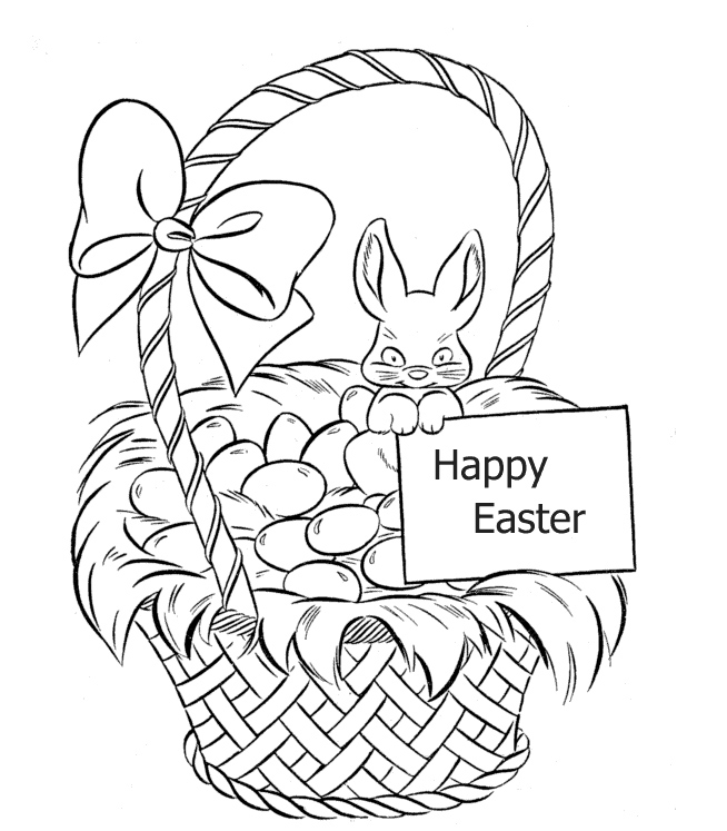 Basket Coloring Page Baskets Coloring Page