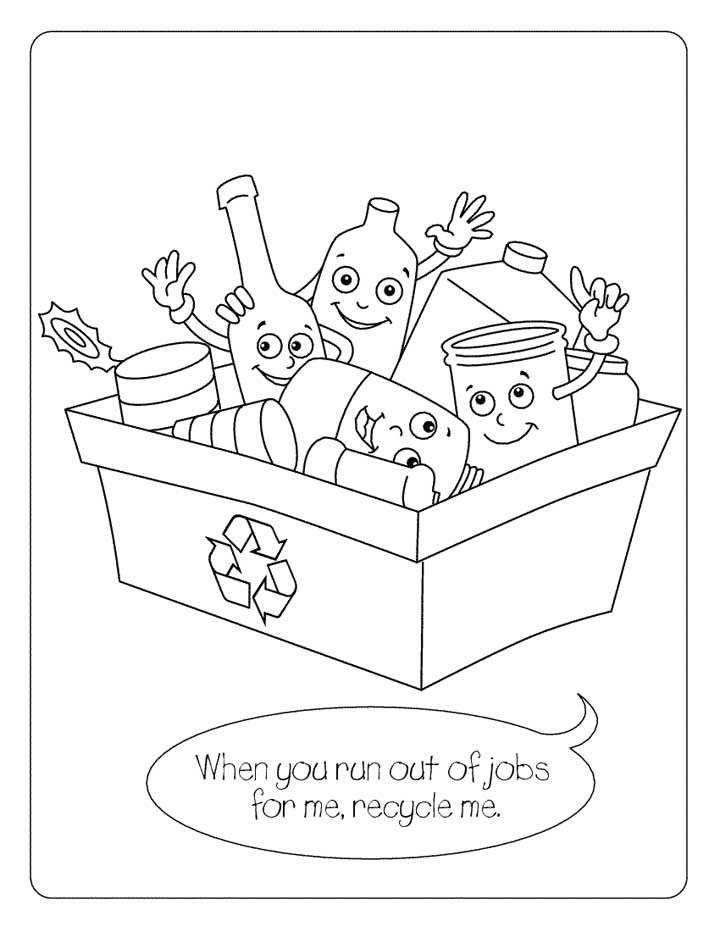 recycle coloring pages - photo#5