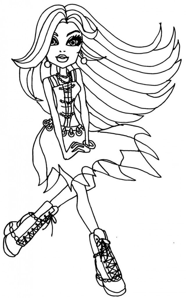 Frankies Colouring Pages 265435 Monster High Frankie Stein