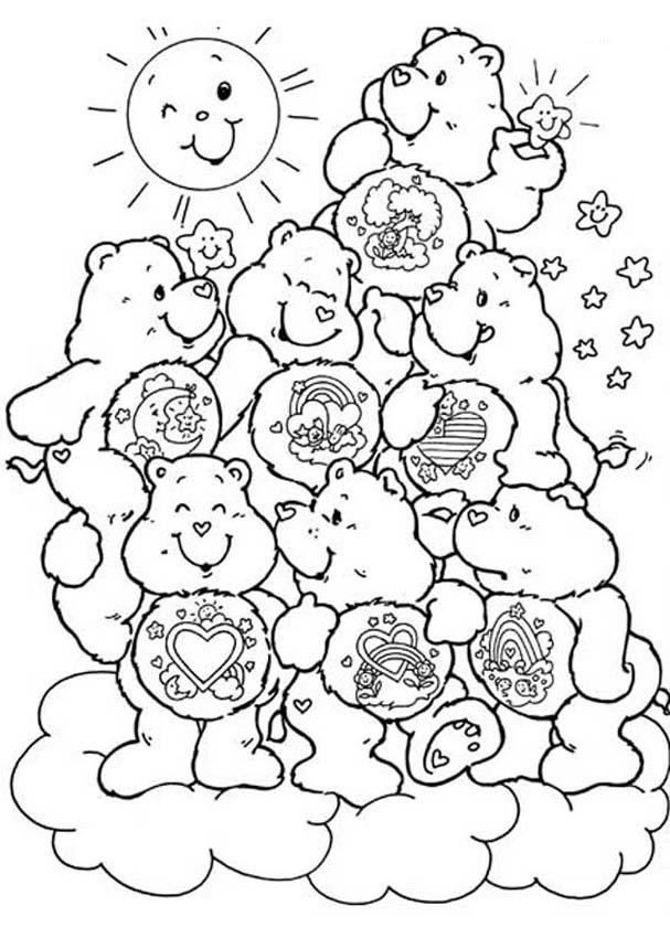 How To Draw A Care Bear Coloring