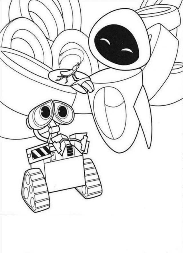 WALL E Black Robot Coloring Page Coloringplus 195583 Robot ...