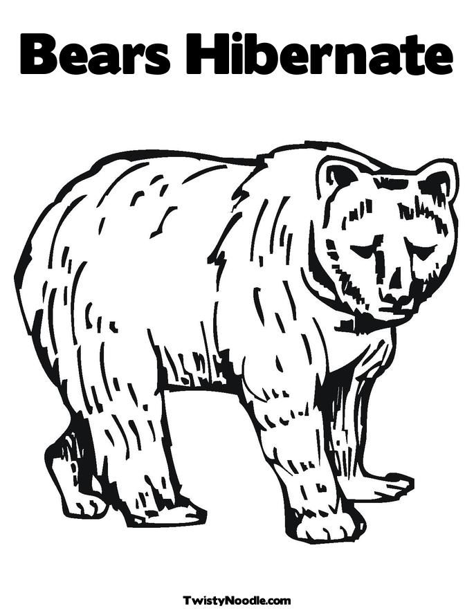 hibernation coloring pages - photo#21