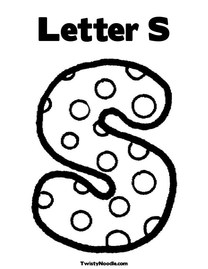 Letter S Coloring Pages : Letter S Coloring Page AZ Coloring Pages