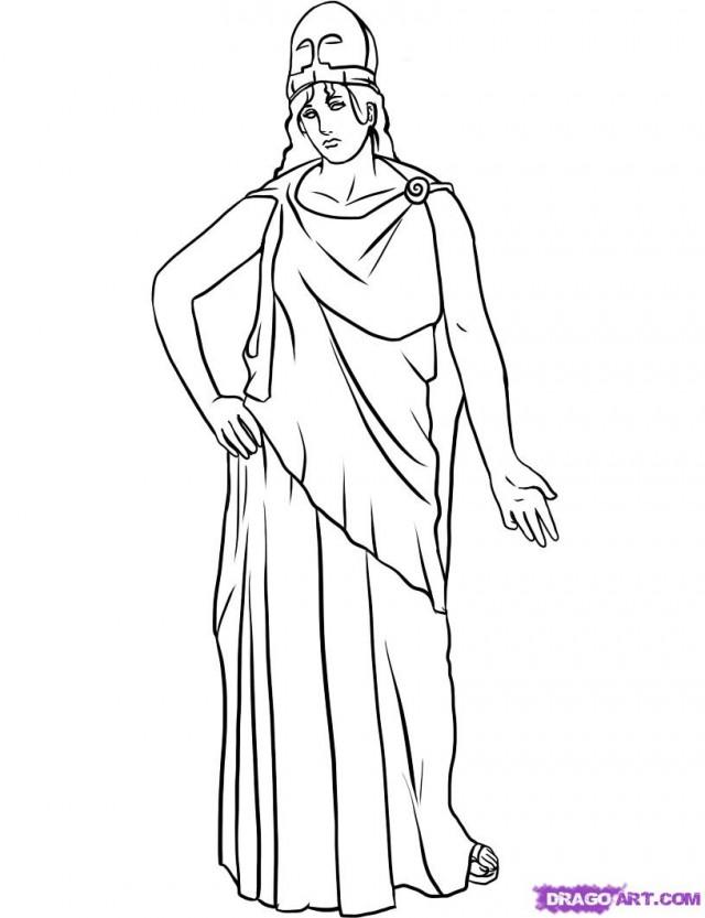 Athena Drawing Draw Athena Step by Step
