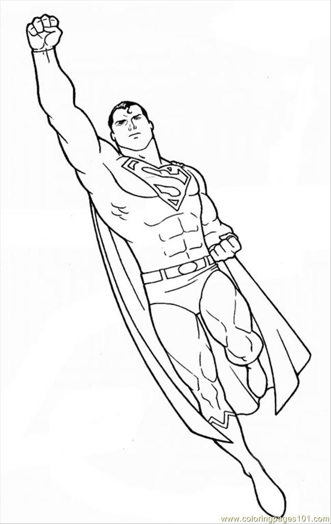 Free Printable Coloring Page Superman 0010 7 Cartoons Others