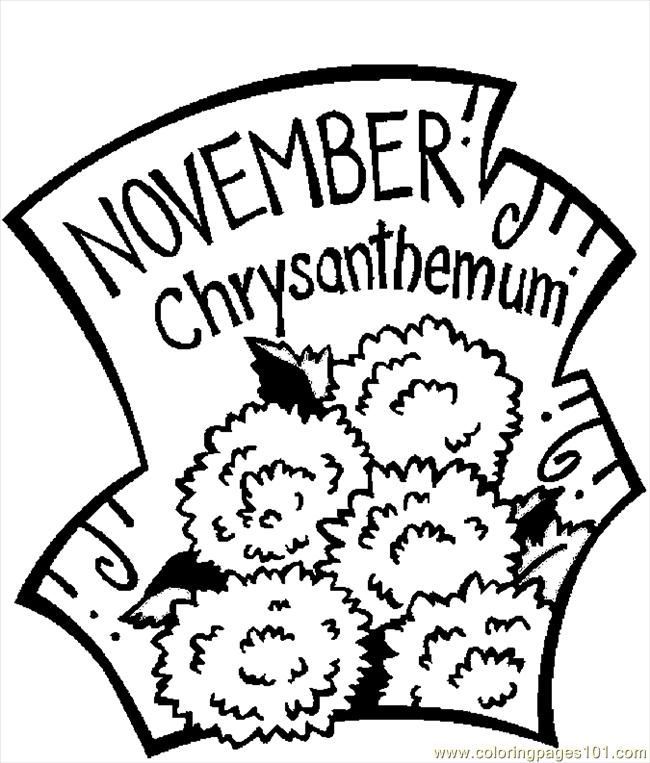 chrysanthemum coloring page coloring home