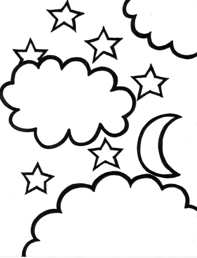 moon and stars coloring pages coloring home