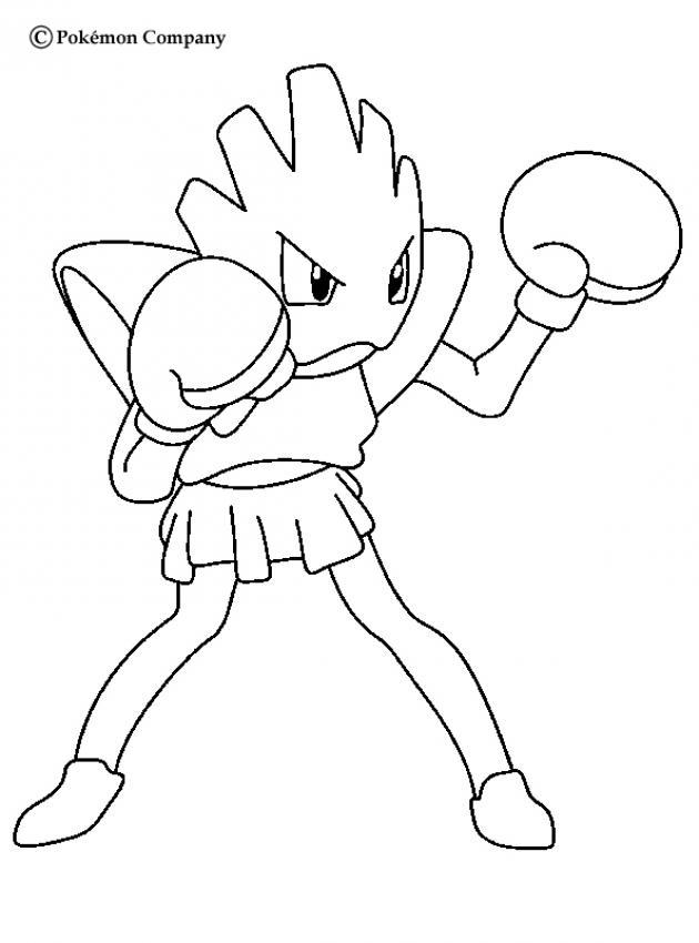 Fightin Pokemon Coloring Page