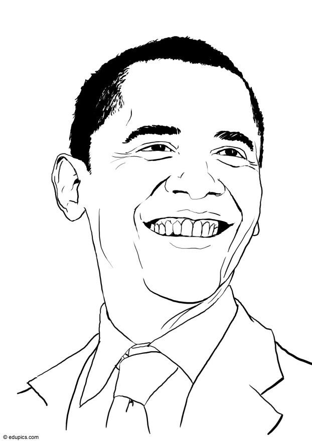 Barack Obama Coloring Pages For Kids - Coloring Home