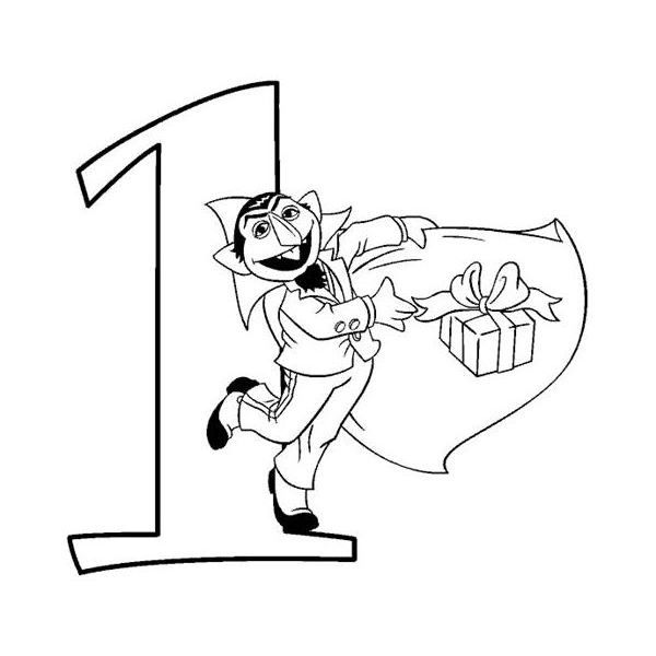 count von count sesame street coloring page