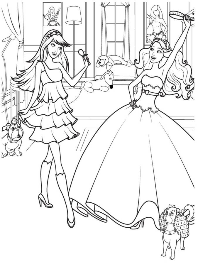 barbie girl coloring pages coloring home