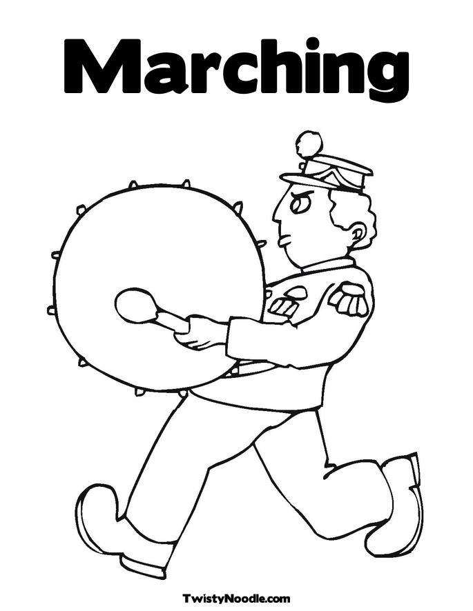 marcing band colouring pages page 2