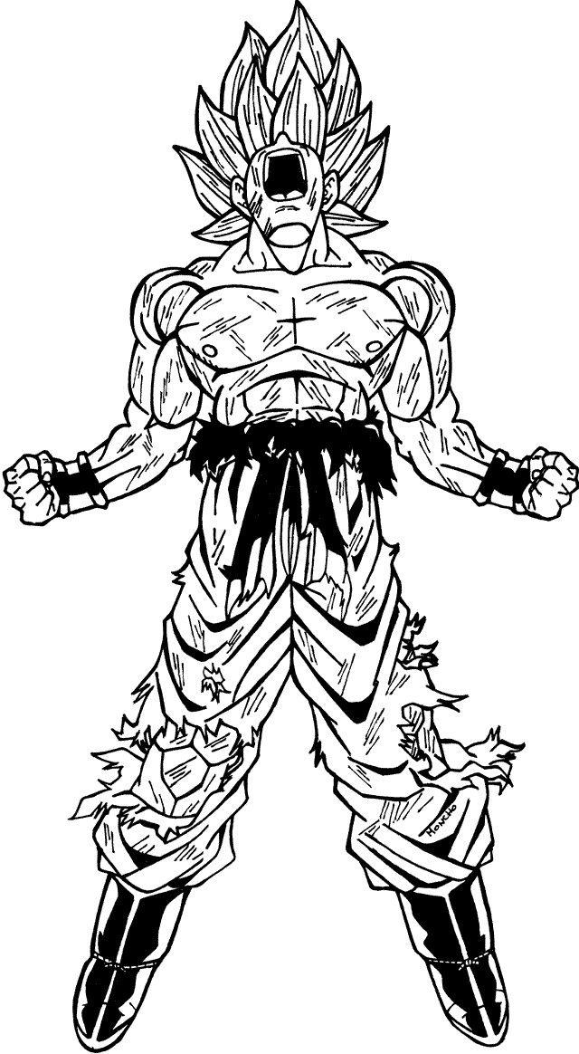 Goku Super Saiyan Coloring Pages - Coloring Home