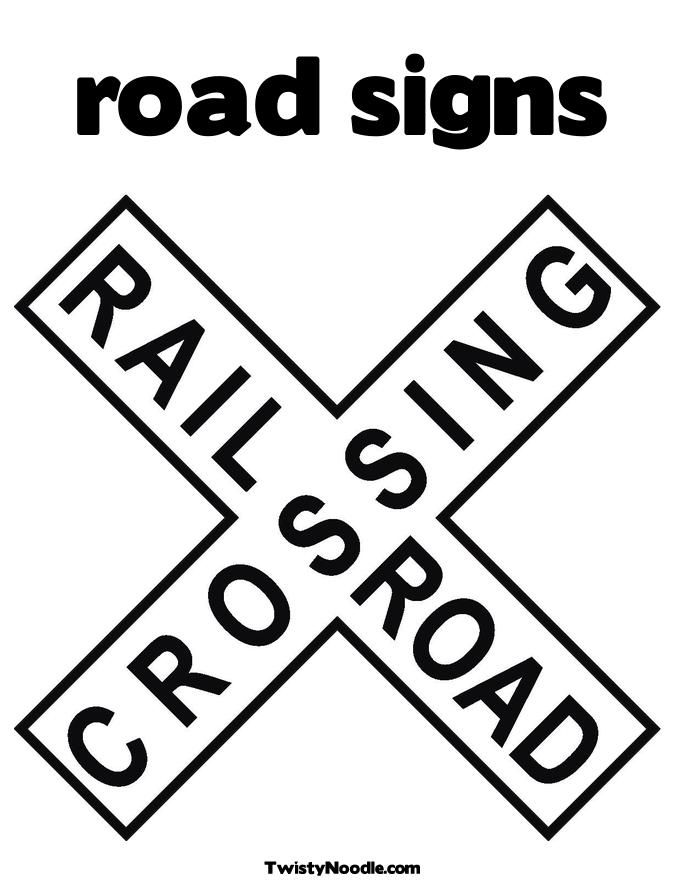 free road signs coloring pages - photo#4