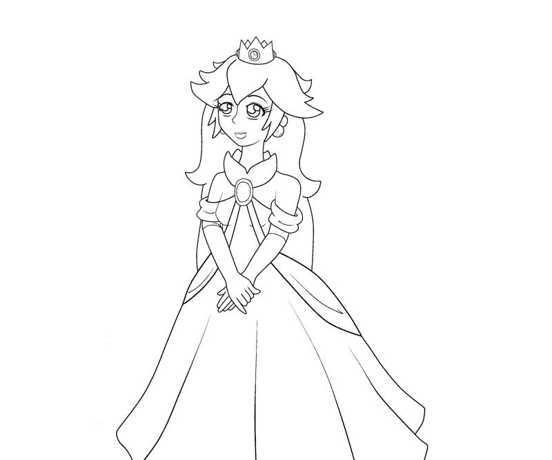 Coloring Pages Of Princess Peach