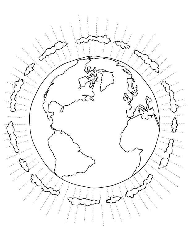 God Created The Earth Coloring Pages - Coloring Home