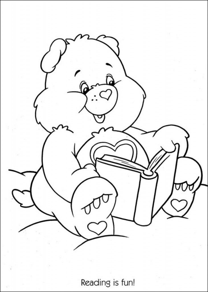 coloring pages of kids reading - photo#15