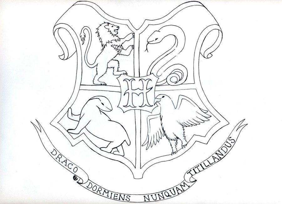 Gallery For > Hogwarts Crest Outline