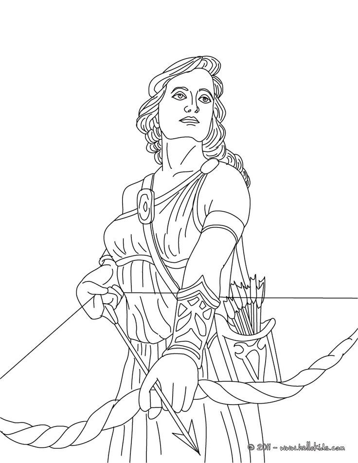 Coloring pages of greek gods and goddesses coloring home for Coloring pages of greek gods