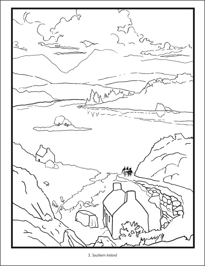 Colouring Pages Ireland : Printable ireland map coloring home