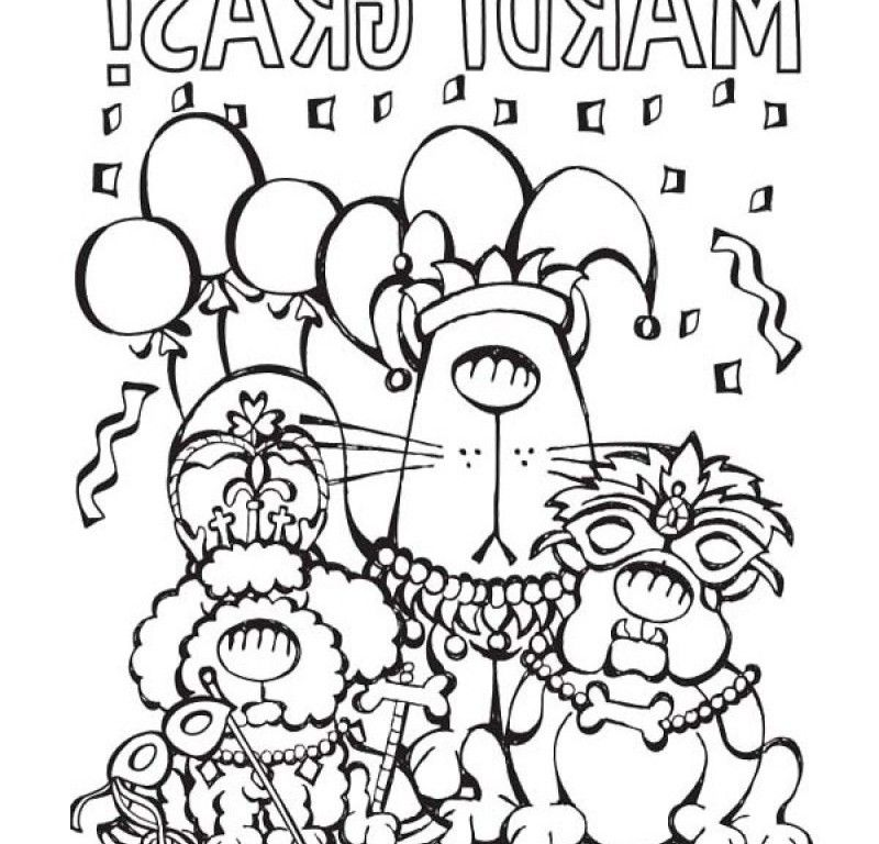 fat tuesday coloring pages - photo #14