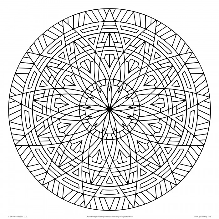 Geometric Coloring Pages Pdf Free Printable : Printable geometric design coloring pages az