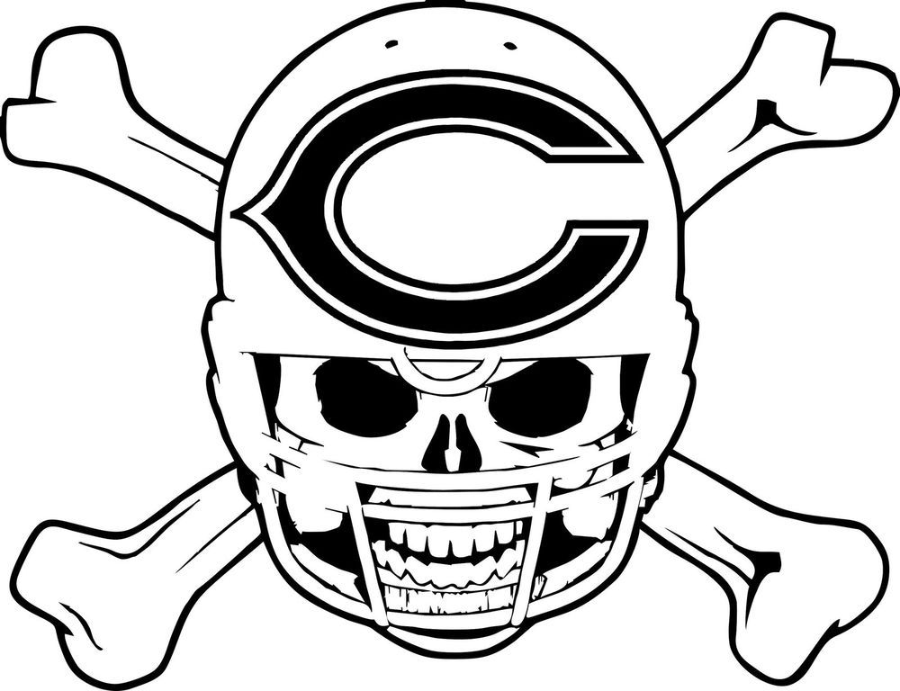 Chicago Bears Symbol Pictures Coloring Home Chicago Bears Coloring Pages