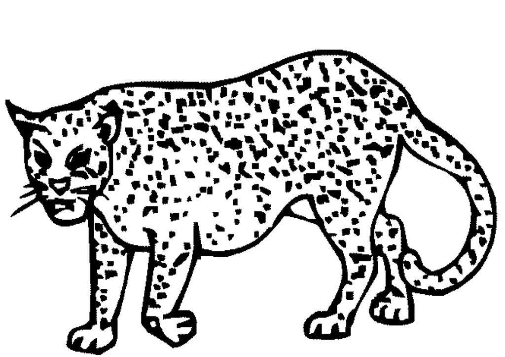 baby cheetah coloring pages - photo#31