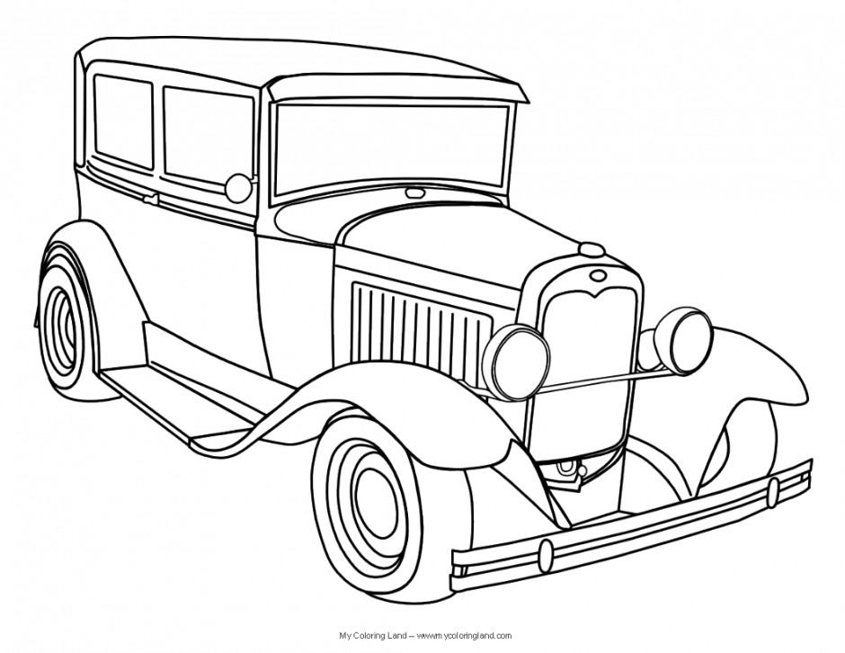 Muscle Car Coloring Page