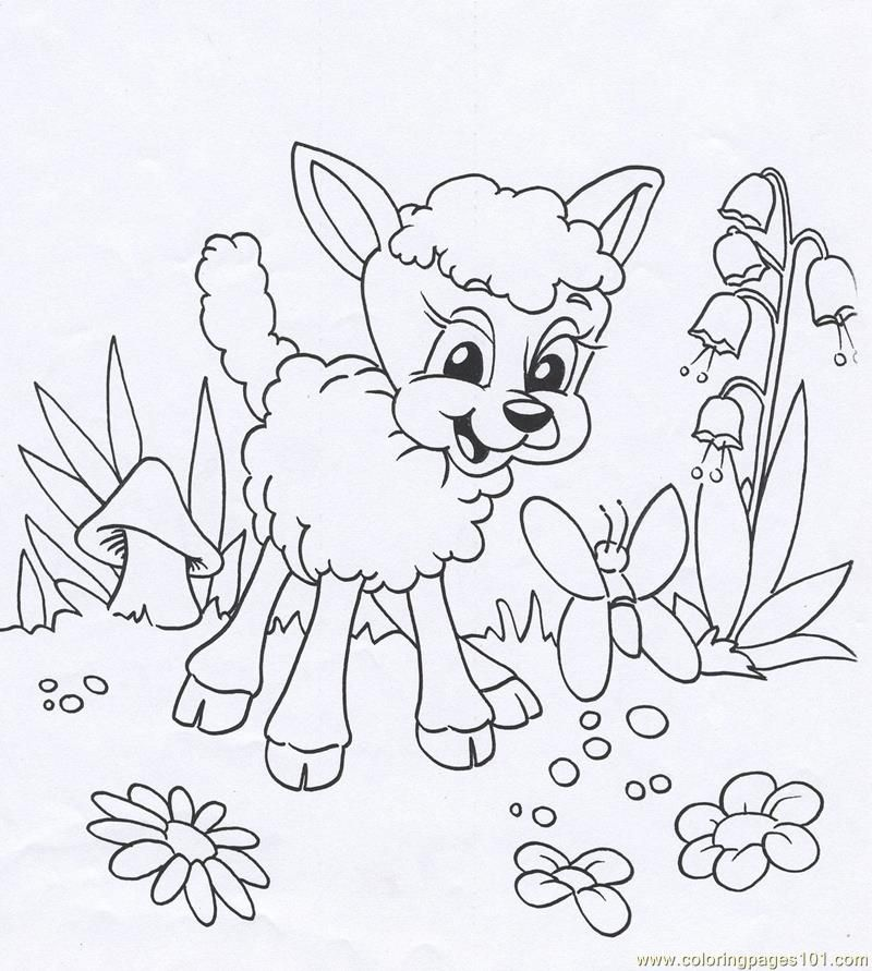 L Lamb Coloring Pages