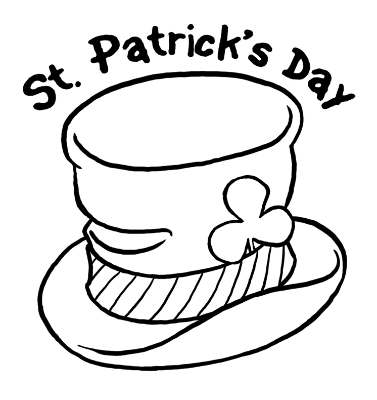 Coloring pages st patricks day az coloring pages for Leprechaun hat coloring page