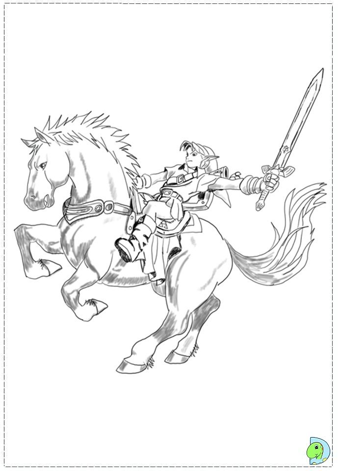 The legend of zelda coloring pages az coloring pages for Midna coloring pages