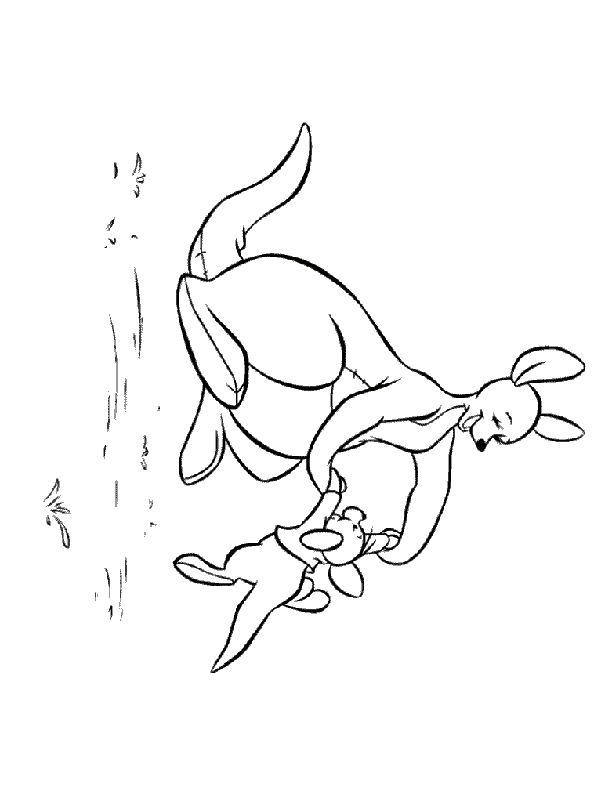 kanga and roo coloring pages - photo#19