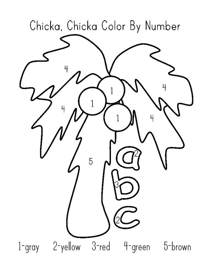 chicka chicka coloring pages - photo#1